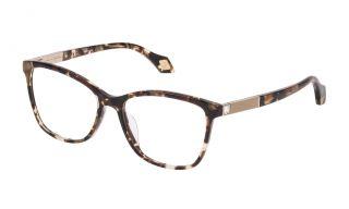 Gafas graduadas Carolina Herrera New York VHN565S Marrón Cuadrada