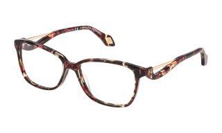 Gafas graduadas Carolina Herrera New York VHN550 Granate Cuadrada