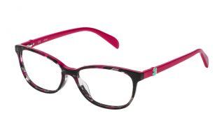 Gafas graduadas Tous VTO979 Rosa/Fucsia Rectangular