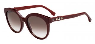Gafas de sol Fendi FF0268/S Granate Rectangular