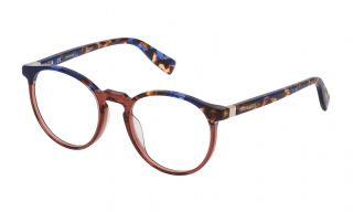 Gafas graduadas Trussardi VTR235 Azul Redonda