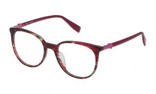 Gafas graduadas Trussardi VTR237 Granate Redonda