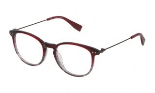 Gafas graduadas Trussardi VTR245 Granate Redonda
