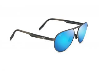 Gafas de sol Maui Jim B787 SWINGING BRIDGES Dorados Rectangular