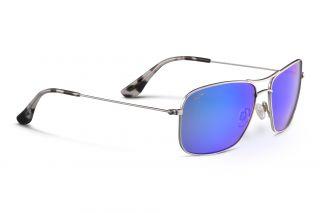 Gafas de sol Maui Jim B246 WIKI WIKI Plateados Rectangular