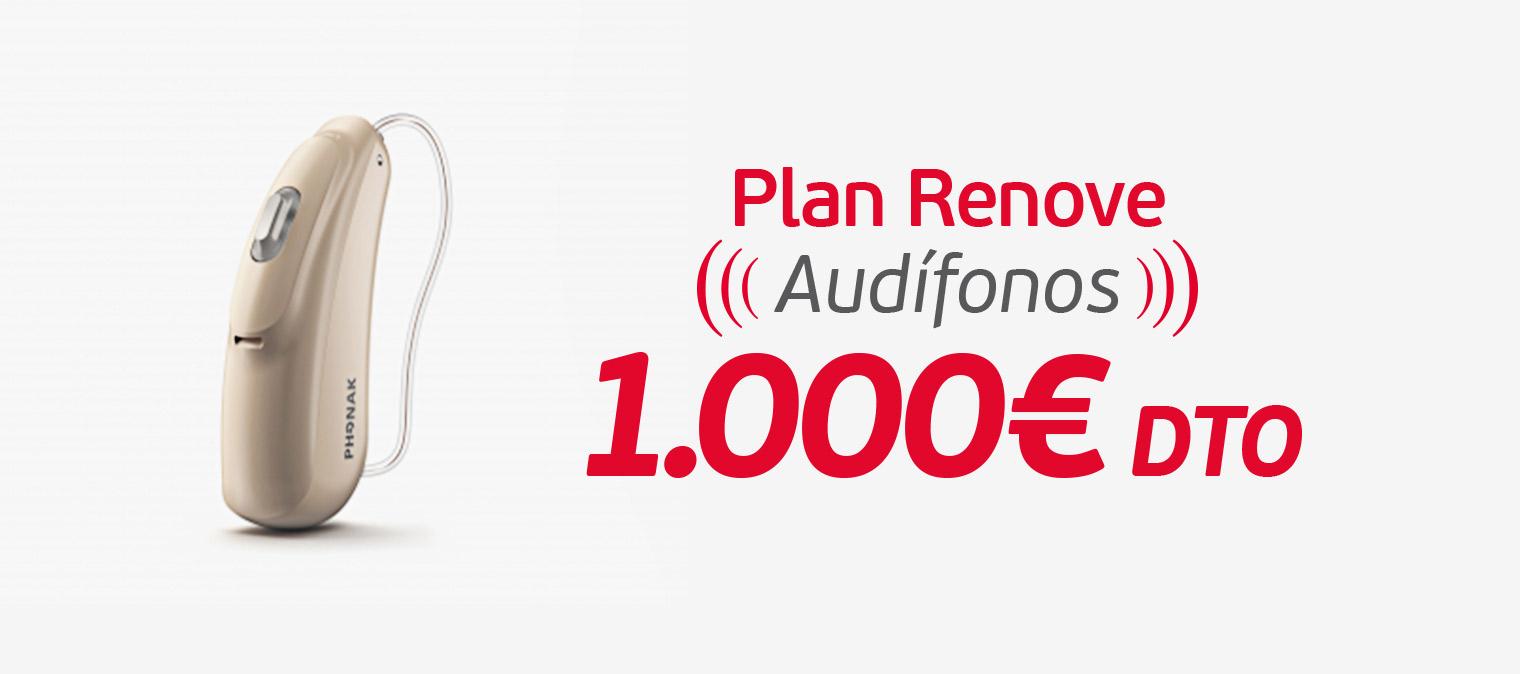 Plan renove en audífonos