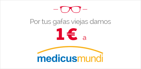 Por tus gafa viejas damos 1€ a Medicus Mundi