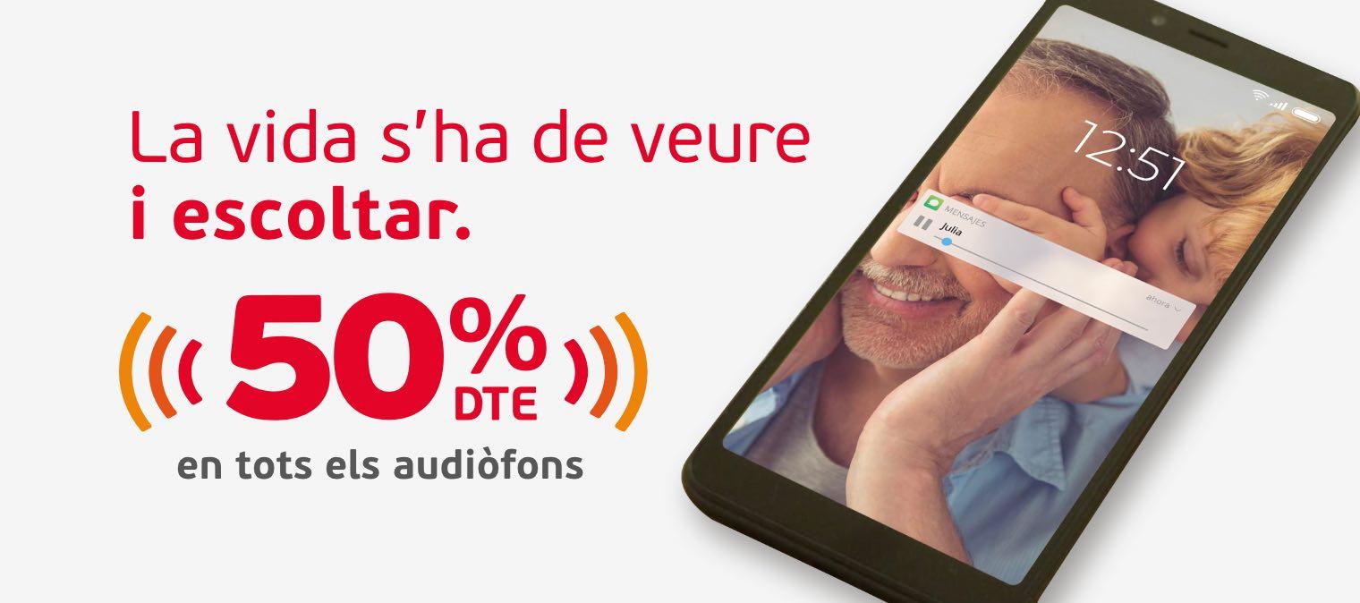 Audiòfons 50%