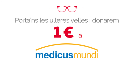 Per les teves ulleres velles donem 1€ a Medicus Mundi